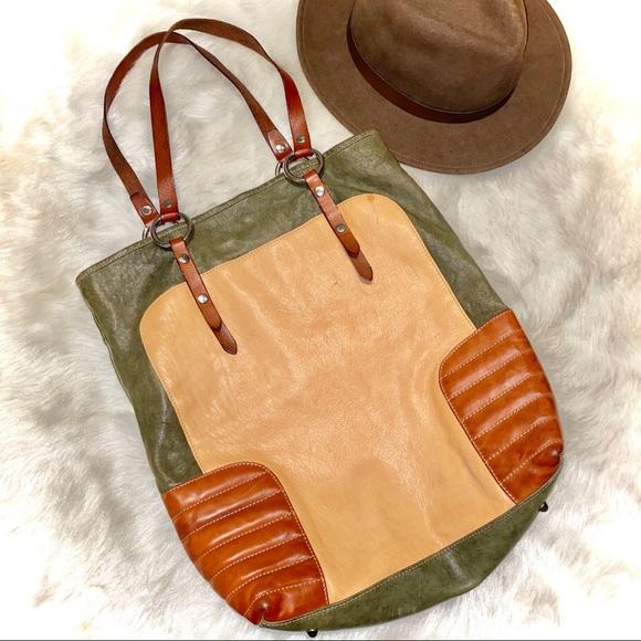 🤎🧡ITALIAN MADE🇮🇹Marco Buggiani leather tote